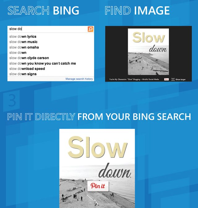 Pin to Pinterest with Bing