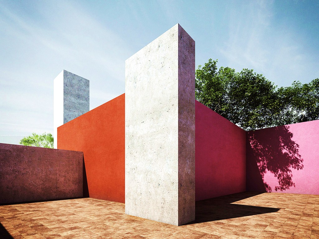 Inspiration color block architecture by luis barrag n for Plataforma arquitectura
