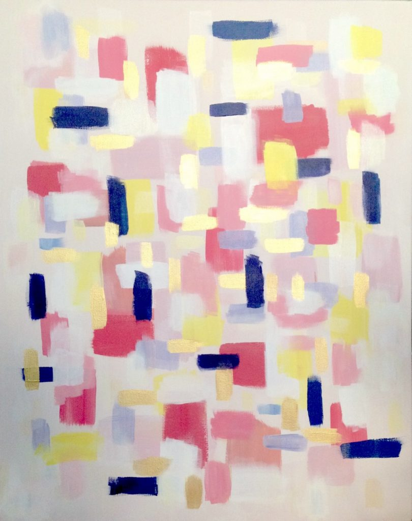 creative process  abstract painting by melanie biehle
