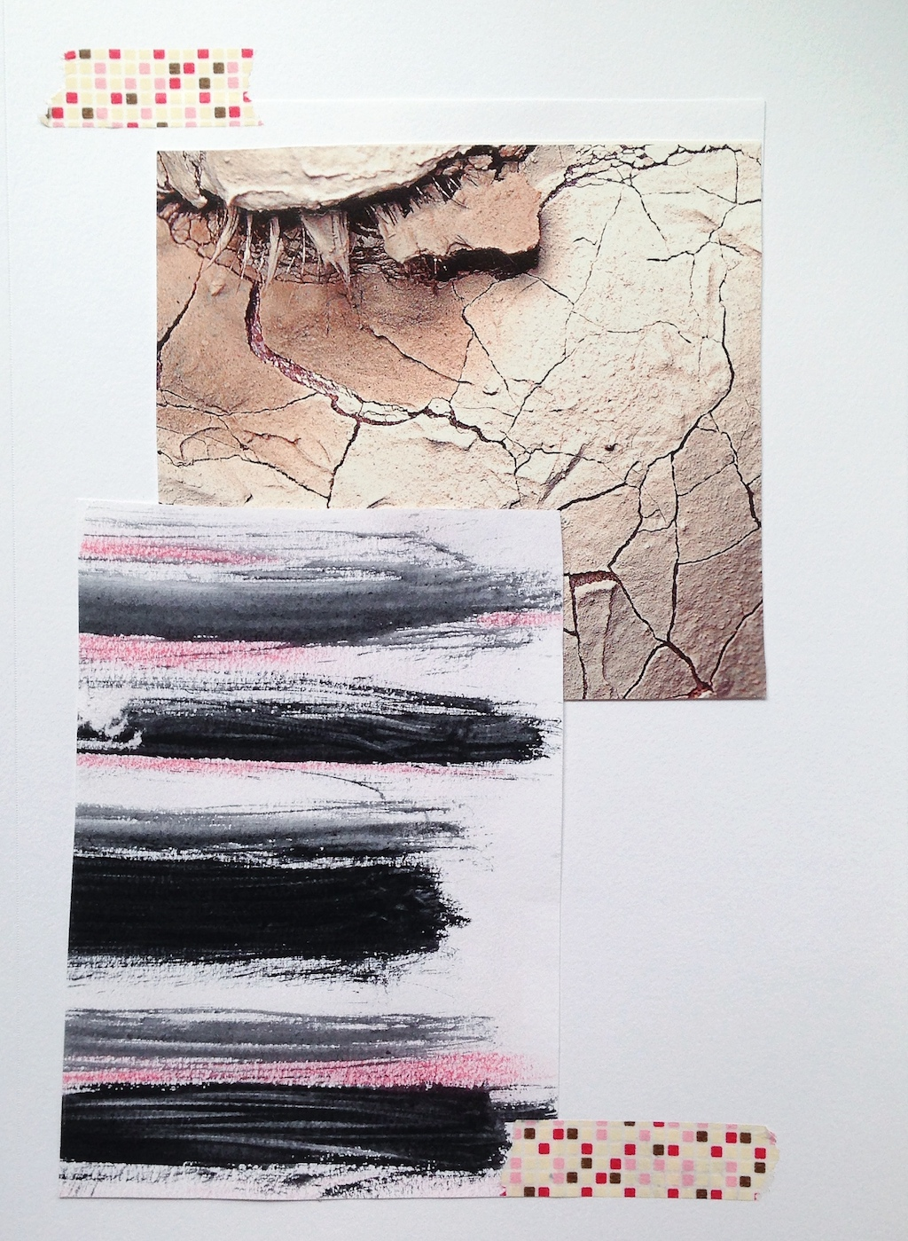 Cracks | Mixed Media Collage by Melanie Biehle
