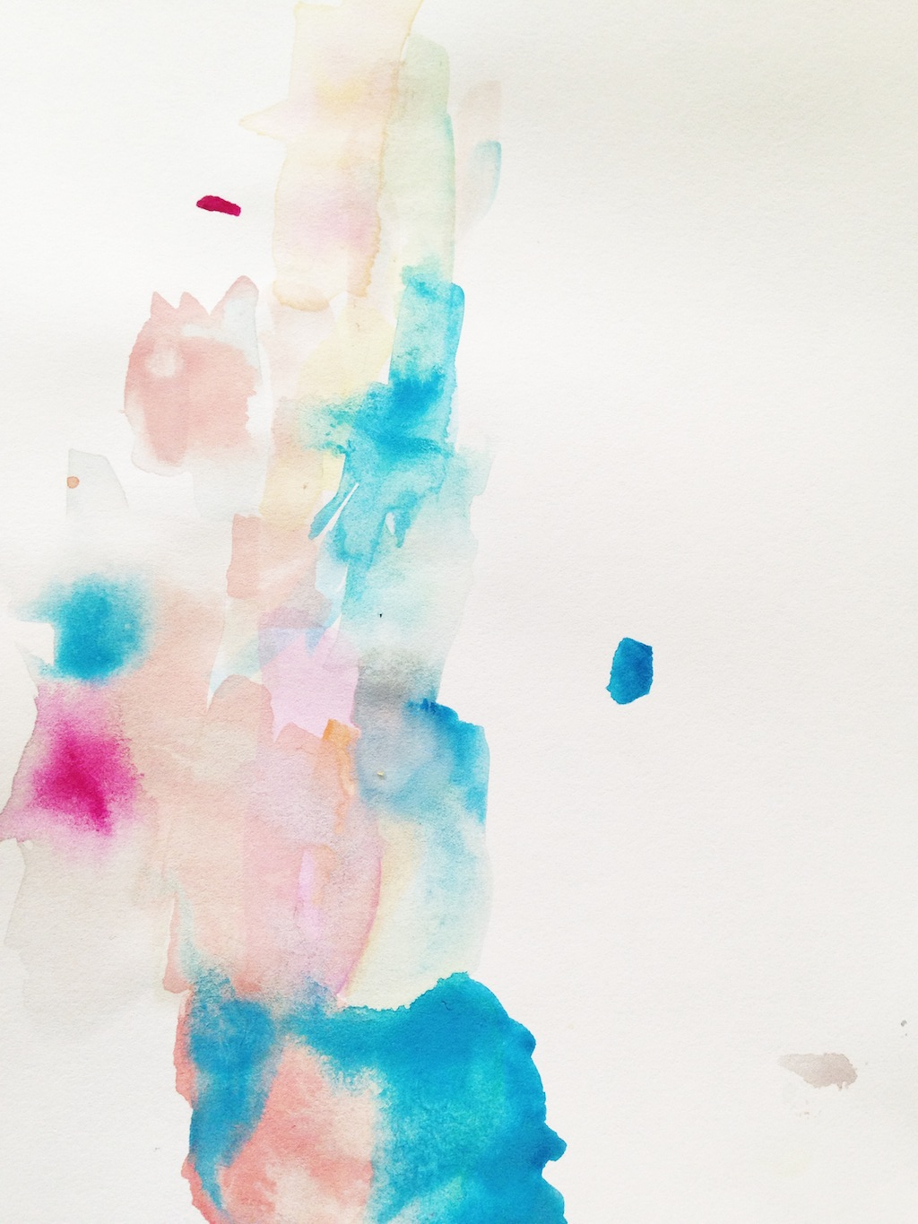 Watercolor painting by Nathaniel Biehle, Age 3