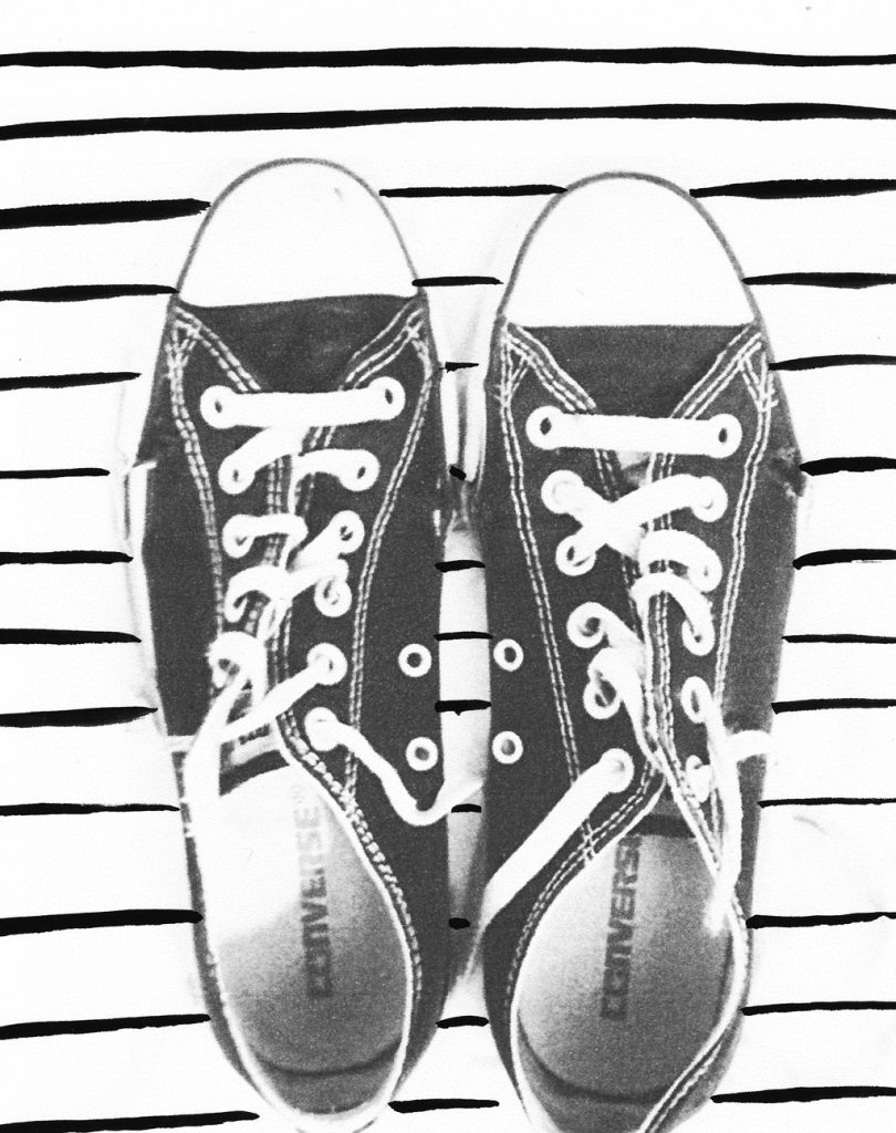 Converse Chuck Taylor Altered by Melanie Biehle for The Jealous Curator January Creative UNBlock Project