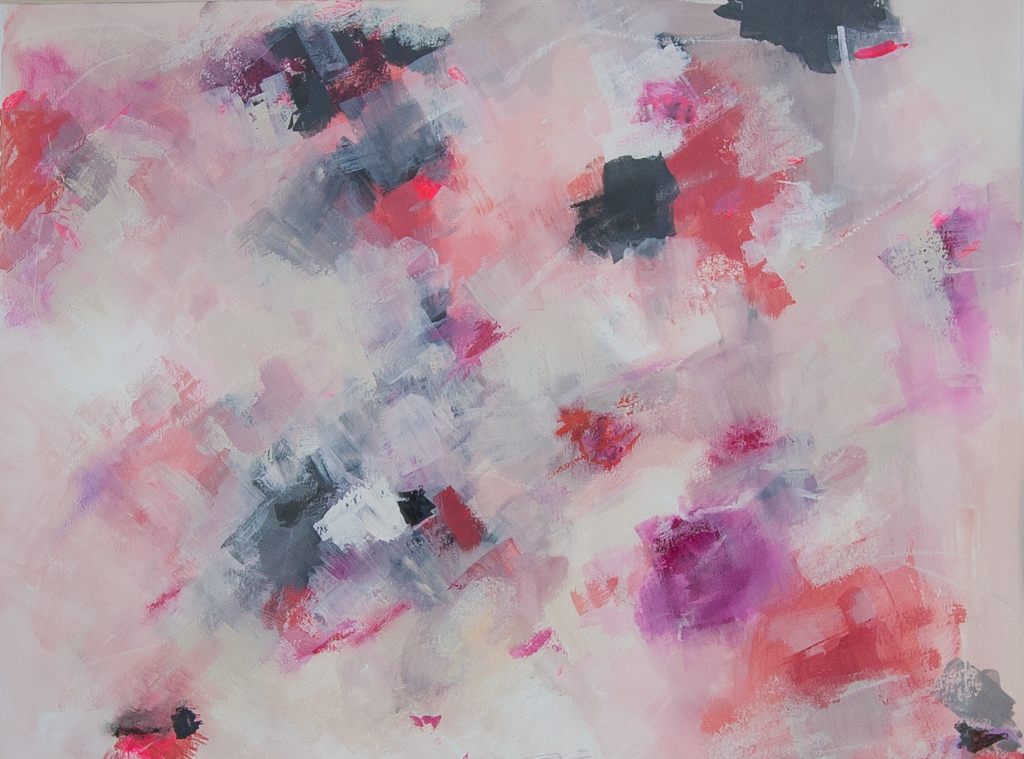 Pretty in pink abstract paintings by melanie biehle for Pretty abstract paintings