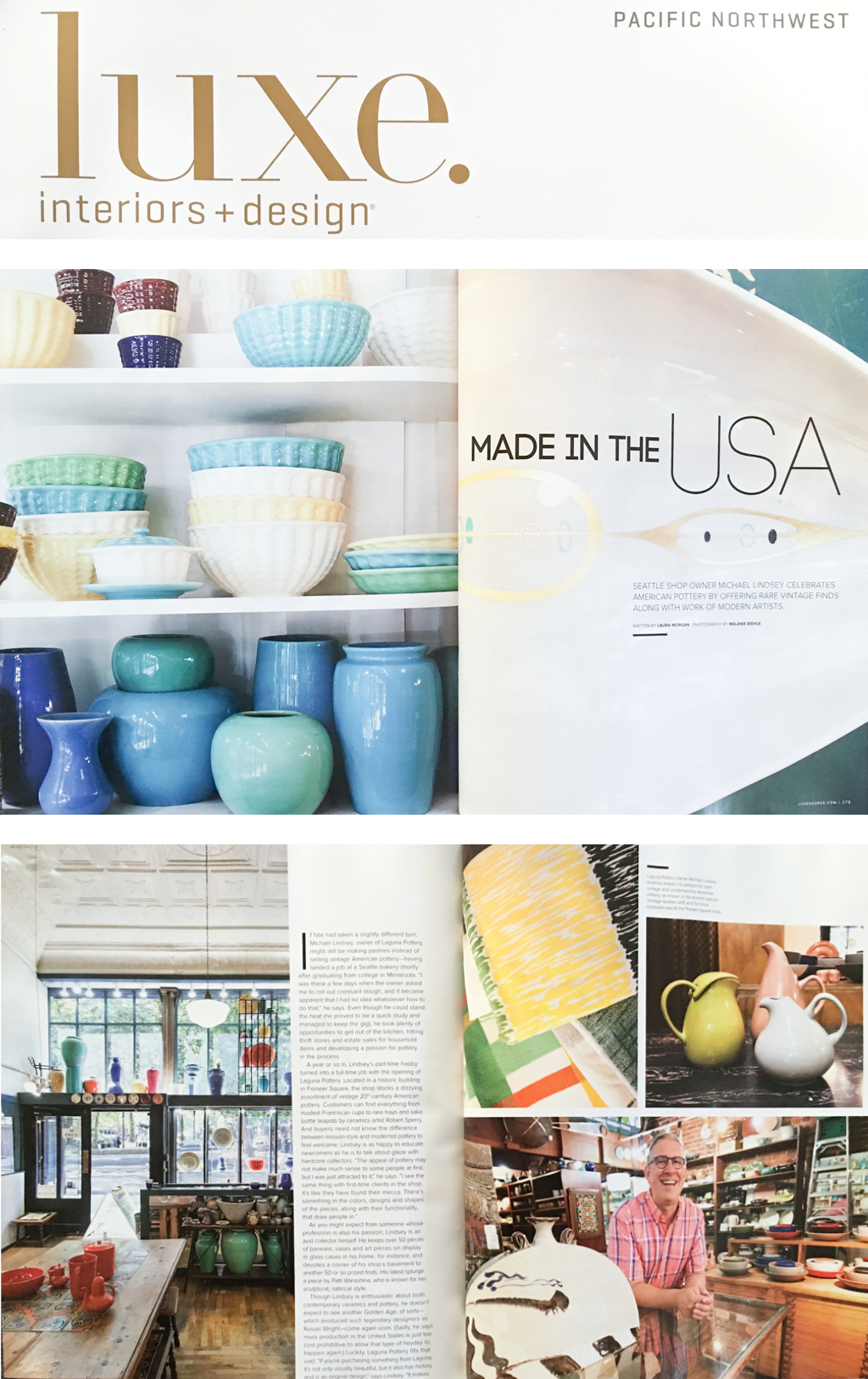 Laguna Pottery Seattle LUXE Magazine Winter 2015 Photography By Melanie Biehle