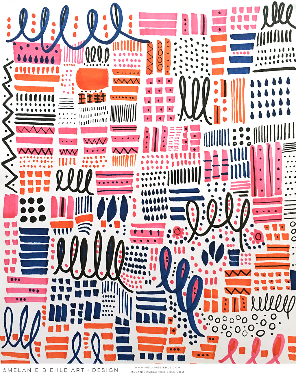 Abstract Pattern Designs by Melanie Biehle