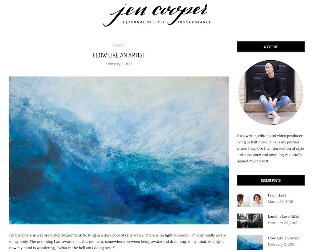 Flow Like An Artist | Creativity Conversation between Jen Cooper and Melanie Biehle