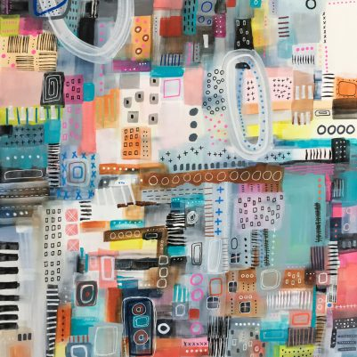 Menagerie | Abstract Cityscape by Melanie Biehle