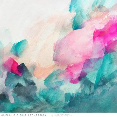 Pinks-and-Greens-and-Light-Abstract-Painting-by-Melanie-Biehle