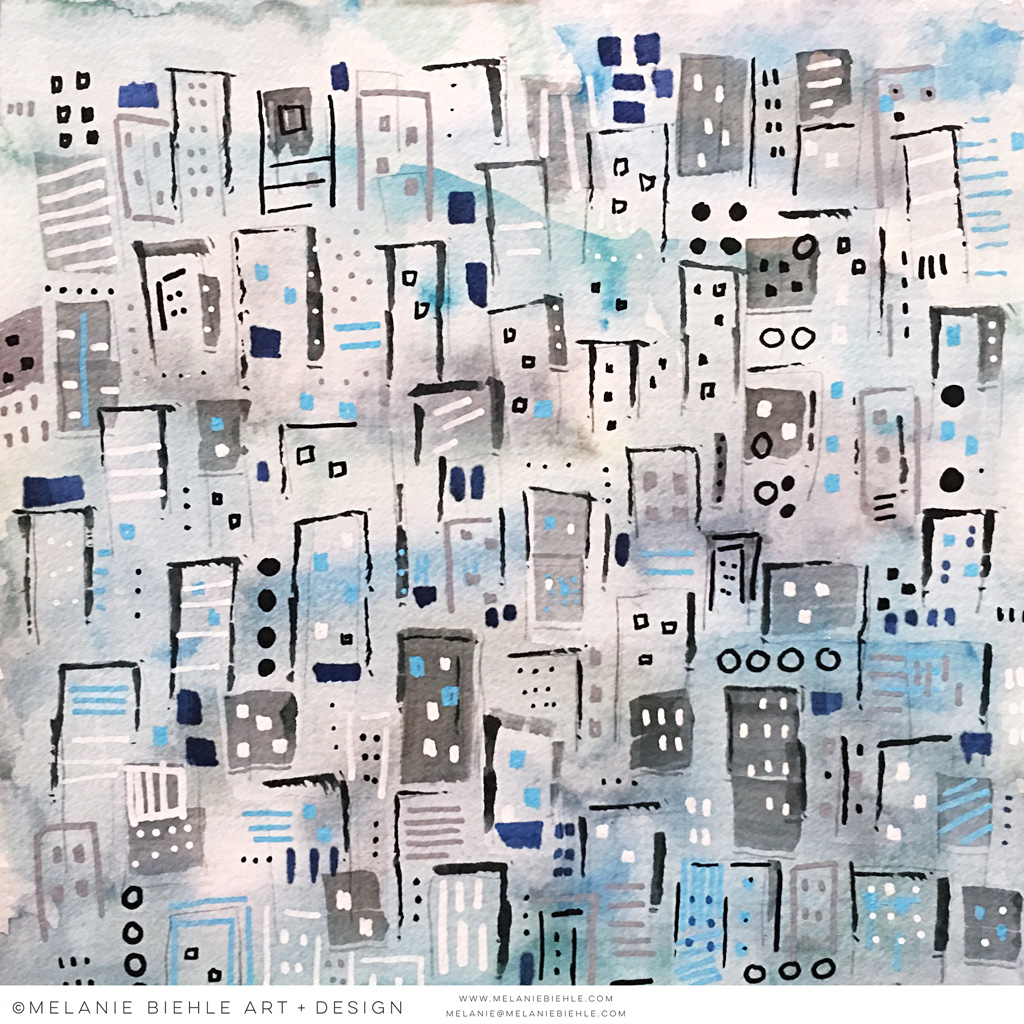 Rainy Weekend| Abstract Cityscape by Melanie Biehle