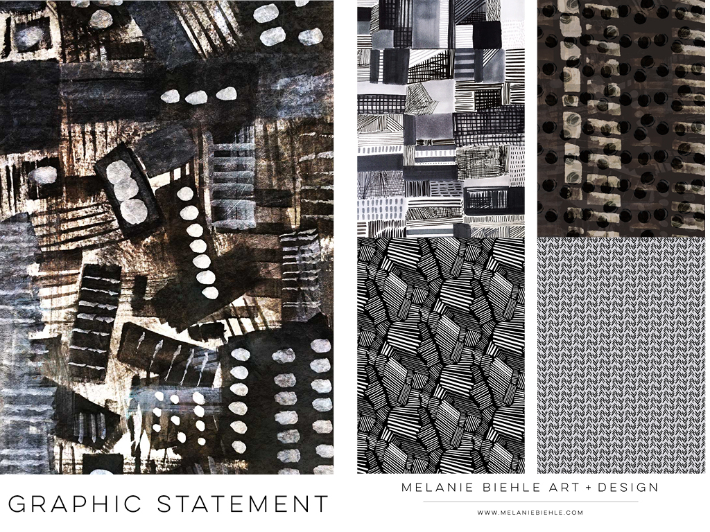 Graphic Statement Fashion Textile Print Design by Melanie Biehle June 2016