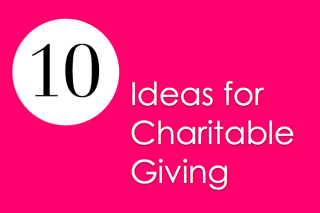 Resource List: Charitable Gift Giving Guide
