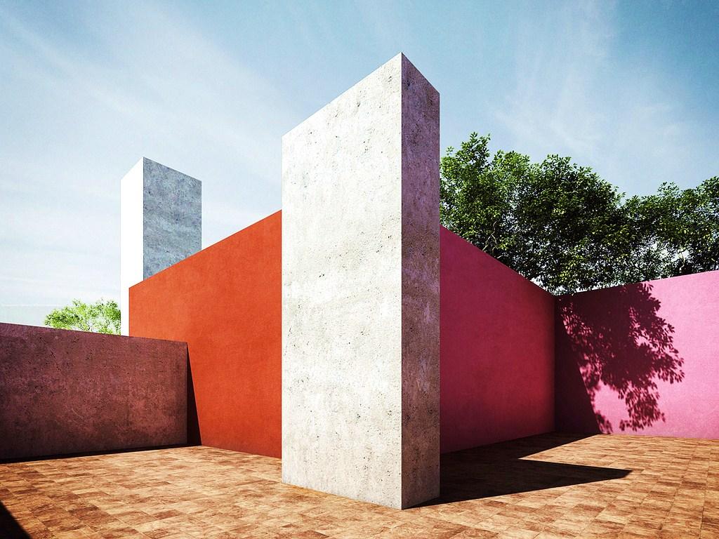 inspiration color block architecture by luis barrag n. Black Bedroom Furniture Sets. Home Design Ideas