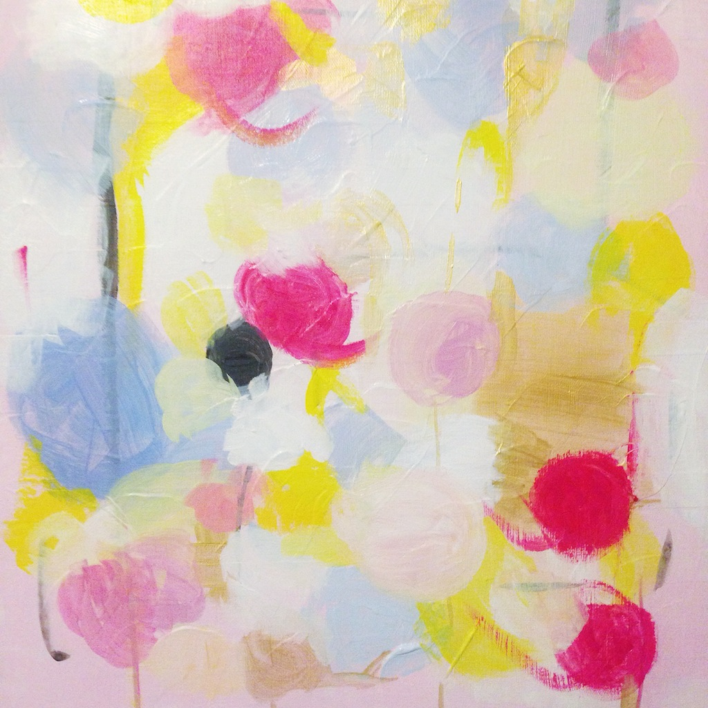 Abstract Painting in Progress by Melanie Biehle