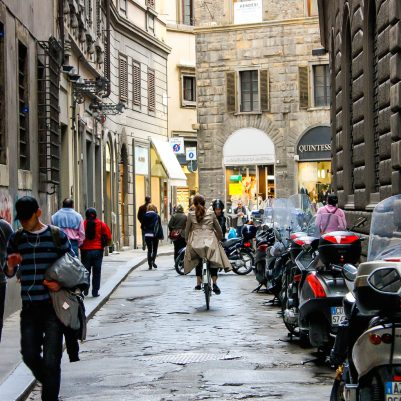 Biking Through Florence, Italy | Photograph by Melanie Biehle, 2009 | by Melanie Biehle, Interiors, Travel, Lifestyle Photographer