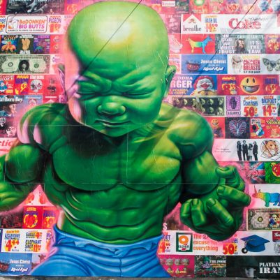 All American Temper Tot by Ron English Lower East Side by Melanie Biehle