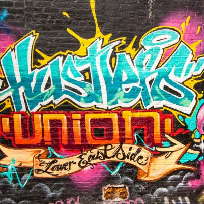 Hustlers Union Lower East Side Graffiti | | by Melanie Biehle, Interiors, Travel, Lifestyle Photographer