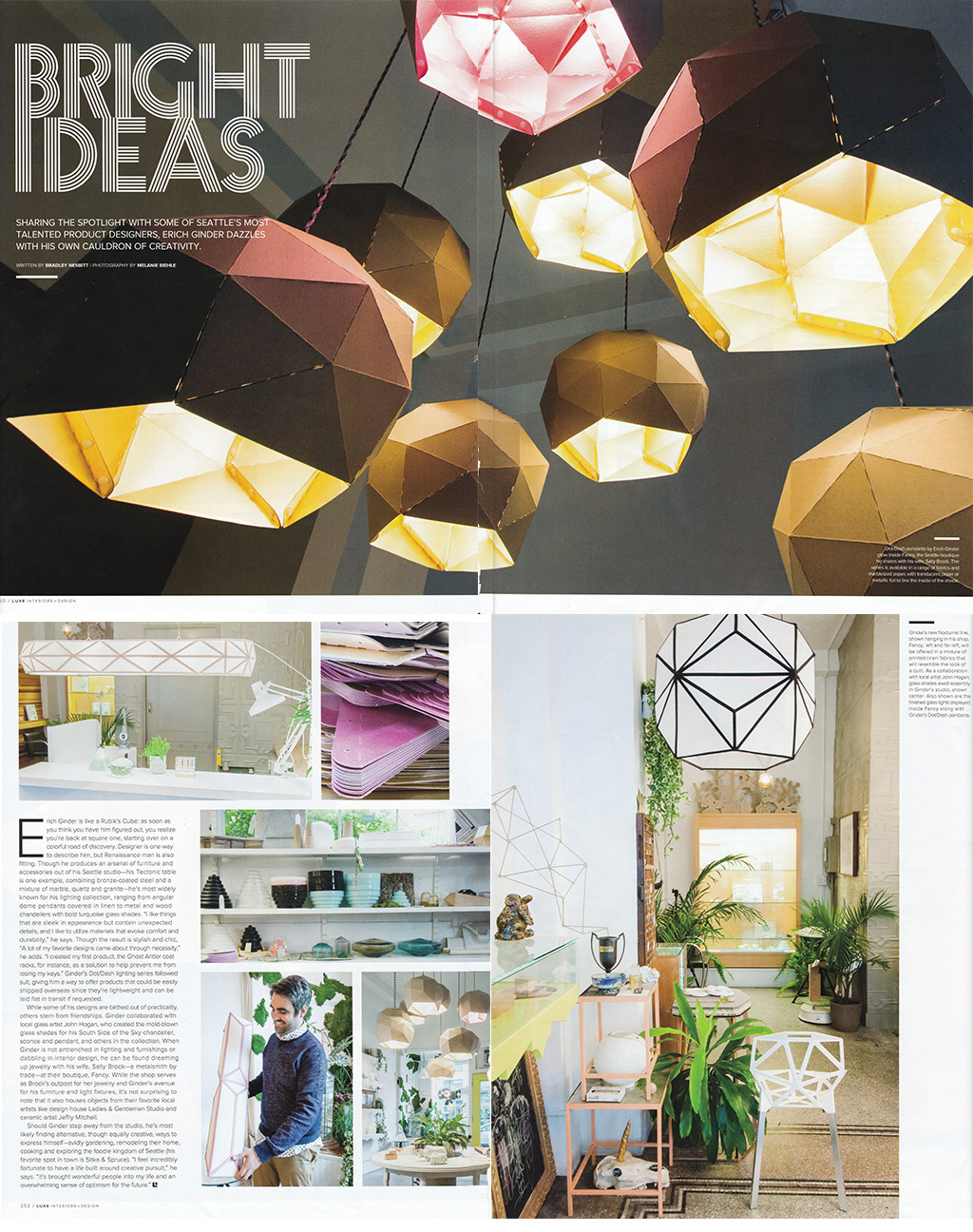 Luxe Interiors + Design Magazine Hired Me To Photograph The Bright Ideas  Story On Seattle Designer Erich Ginder For The Summer 2015 Issue.