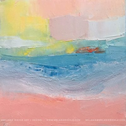 Endless Summer 3 Abstract Painting by Melanie Biehle inspired by the colors of the sun and the sea.