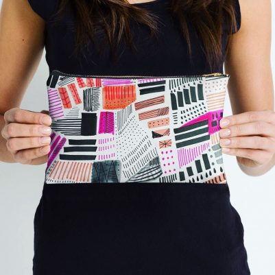 Freestyle Abstract Art Pouch Designed by Melanie Biehle | Available on Redbubble