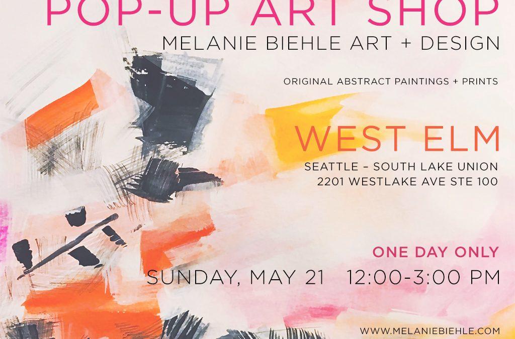 Pop-Up Art Shop at West Elm