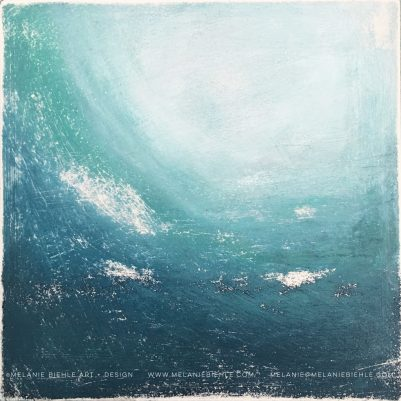 Vintage Surf seascape painting by Melanie Biehle