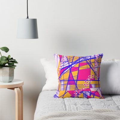 Bright Geometric Throw Pillows