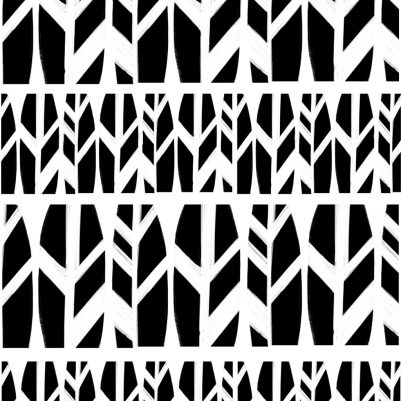 Textile Print Design |Black Leaves | Wanderlust Pattern Collection by Melanie Biehle