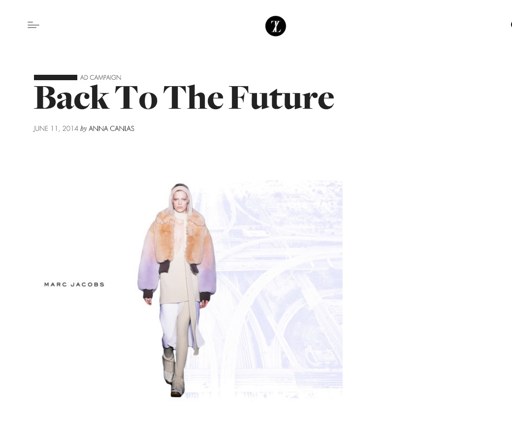 Back To The Future – Marc Jacobs Ad Campaign Concept Case Study | Melanie Biehle on Trendland