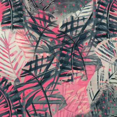 Neon Jungle Tropical Textile Design by Melanie Biehle June 2016