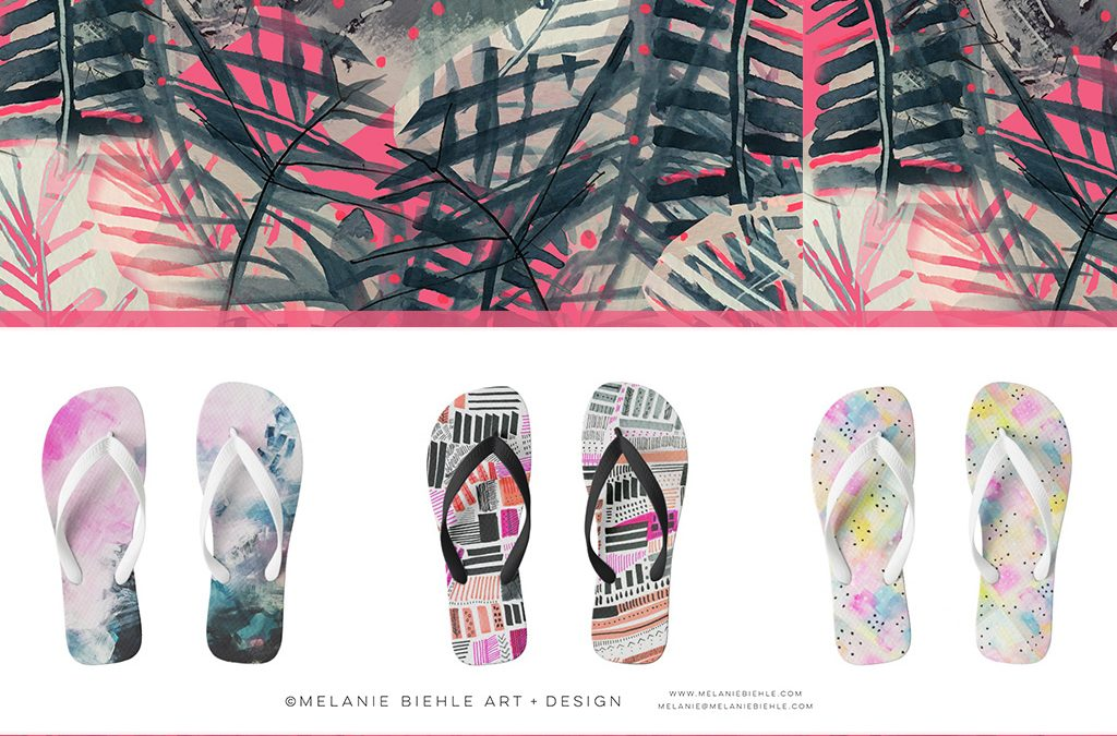Flip Flops for the Belle of the Beach   Art for Your Feet