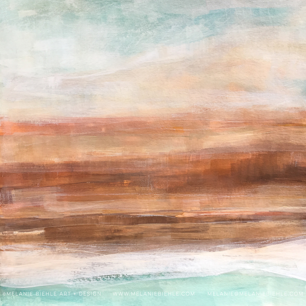 California abstract art Driving Down the PCH by Melanie Biehle California Love Abstract Landscape Art Print Collection