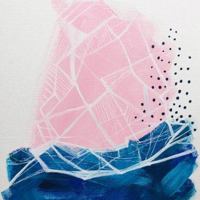 Three-Paintings-on-Pink-No-2-Melanie-Biehle-2017-WEB