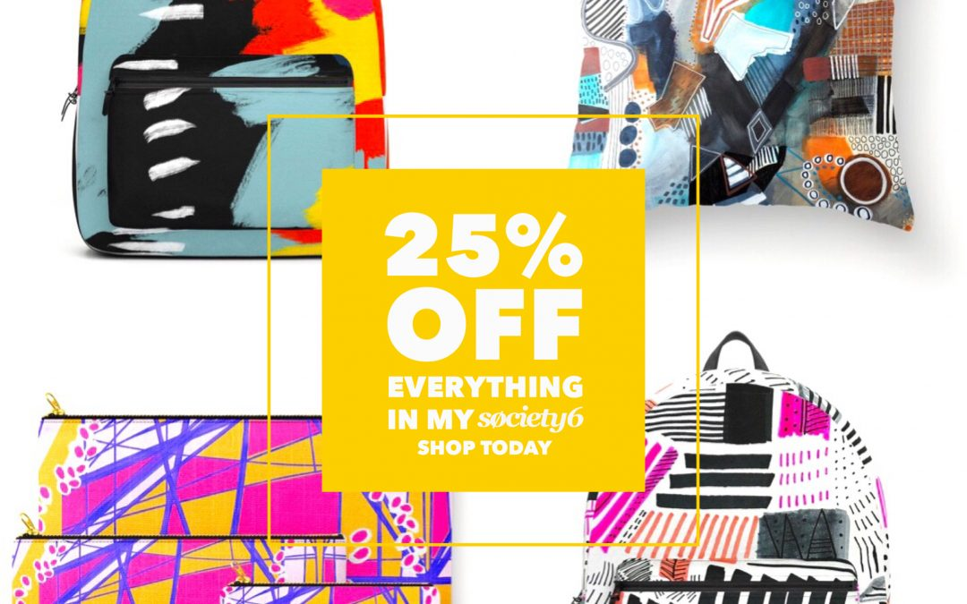 25% Off EVERYTHING at Society6 – Today Only!