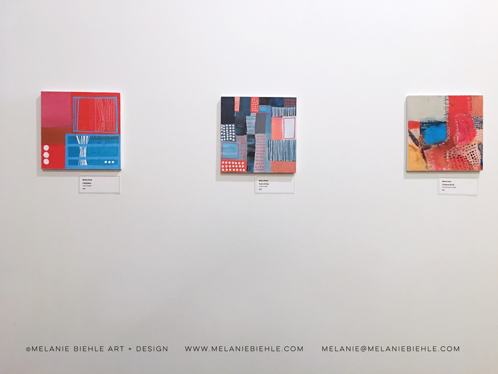 View From The Top – Aerial Views of Imaginary Landscapes, original abstract paintings by Melanie Biehle in Seattle